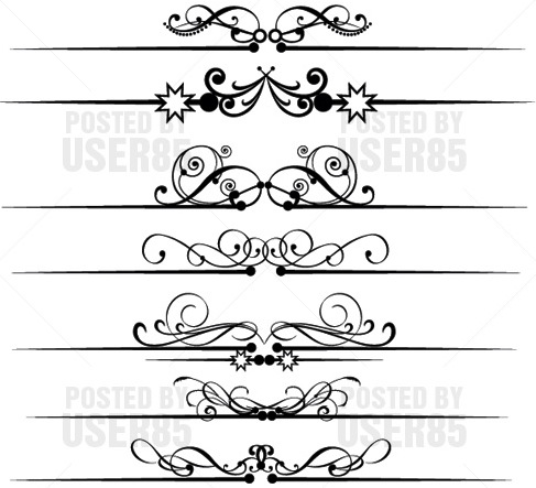 11 Free Vector Decorative Scroll Clip Art Images