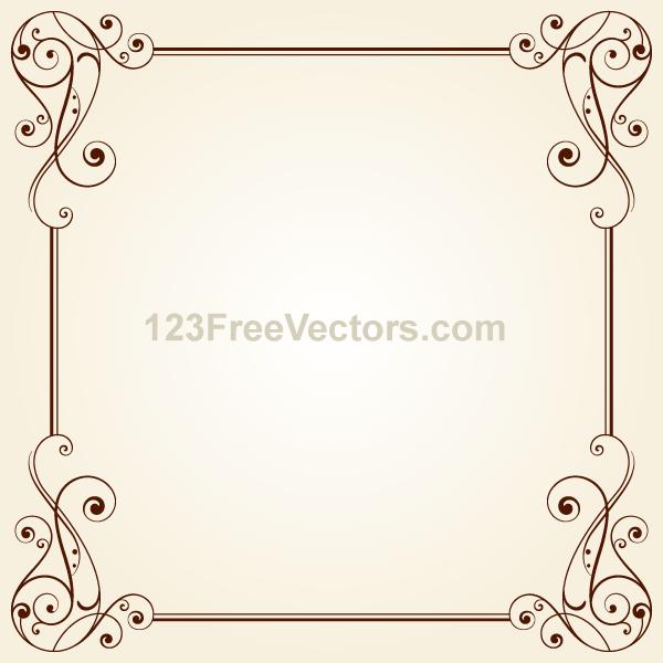 15 Vintage Vector Border Frames Images