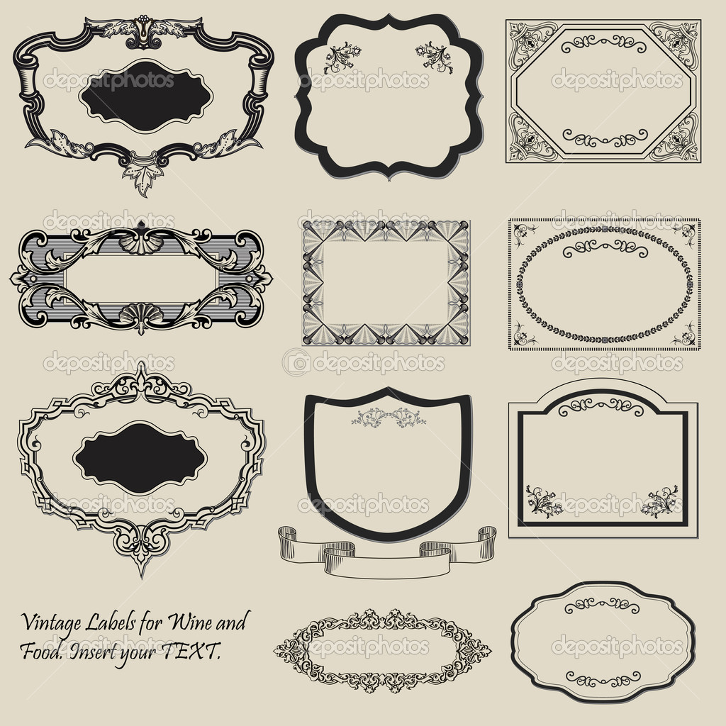 19 Vintage Label Template Images - Free Vintage Tag Label ...