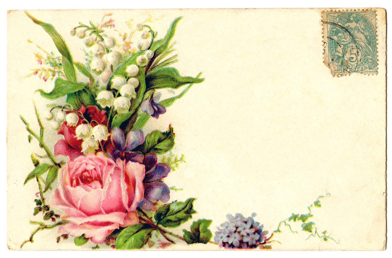 Vintage Roses Clip Art Flowers