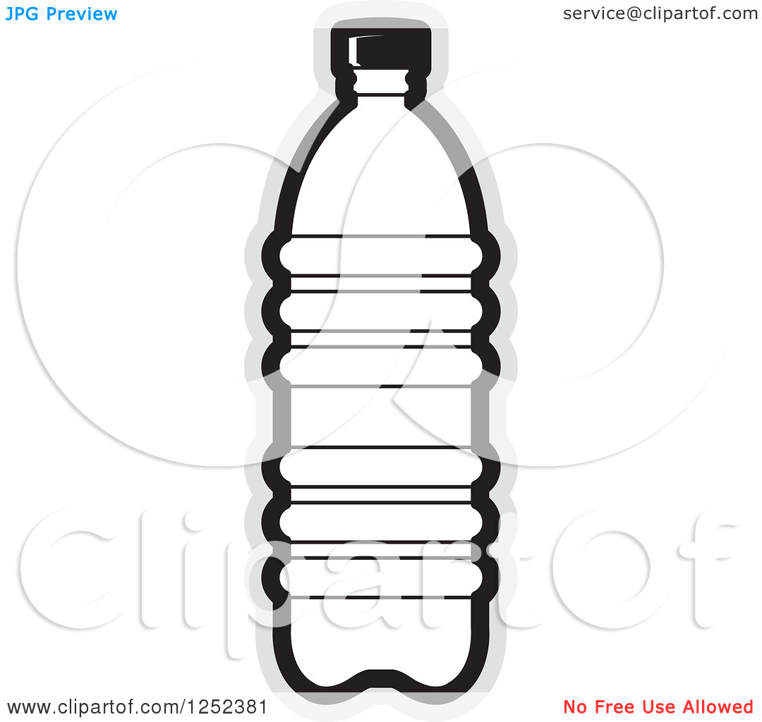 14 Water Bottle Black And White Vector Images