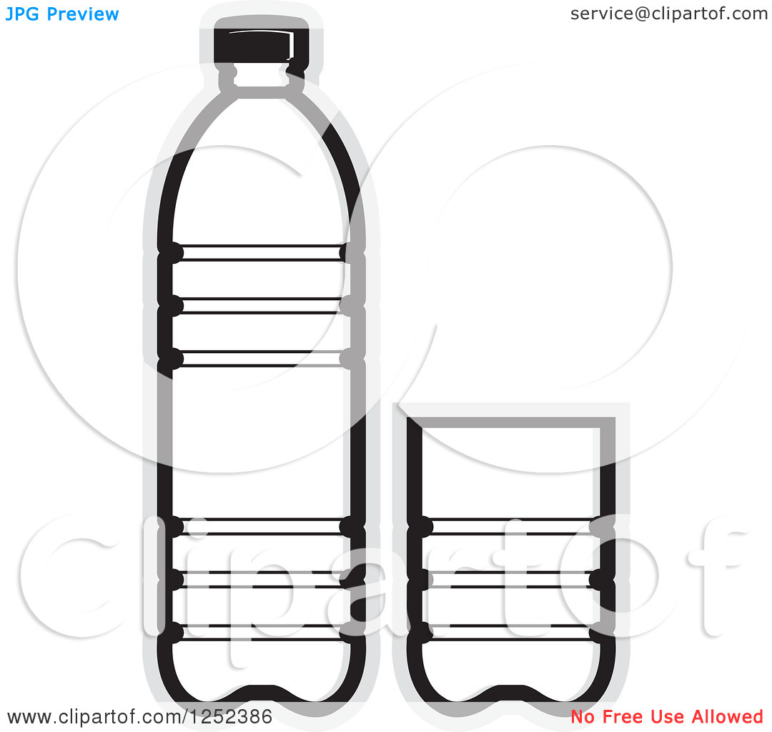 14 Water Bottle Black And White Vector Images Water Bottle Clip