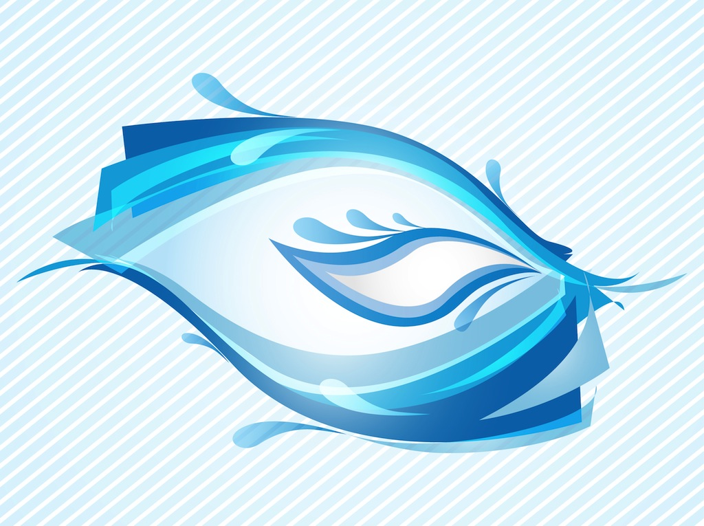 10 blue wave vector images abstract wave vector free - Blue ocean design ...