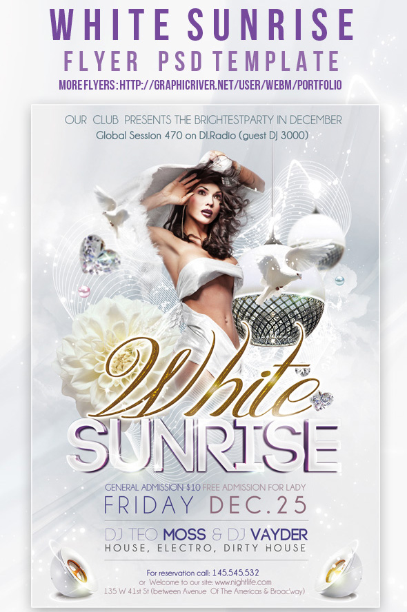 All white party flyer template free militaryalicious all white party flyer template free saigontimesfo