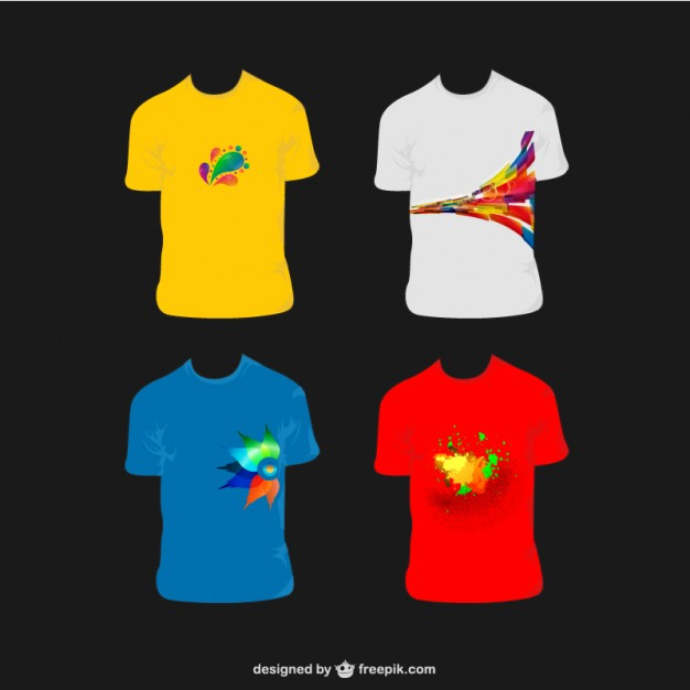 18 Abstract Vector T-Shirt Designs Images