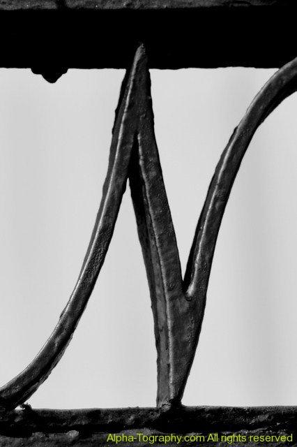 Alphabet Photography Letter N