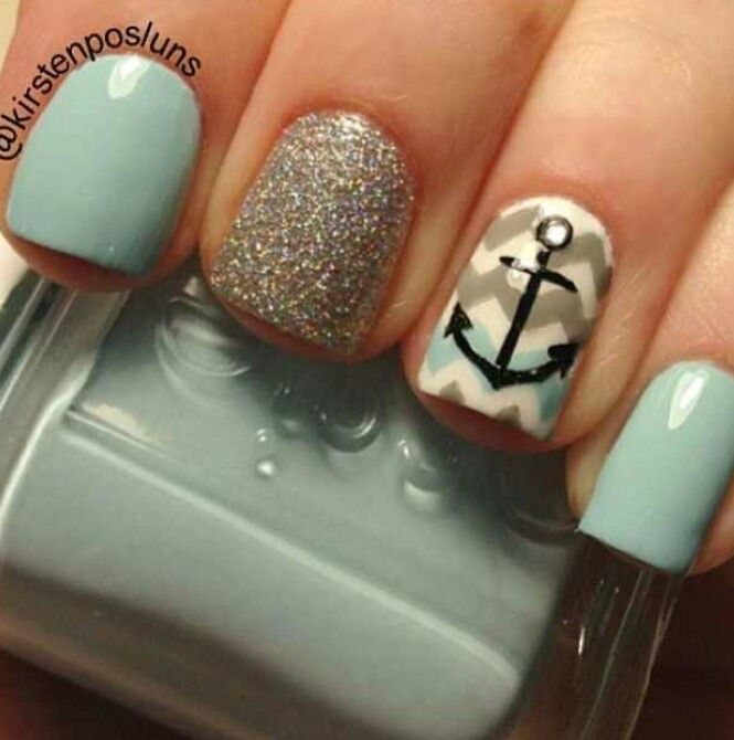 16 Chevron Anchor Nail Designs Images