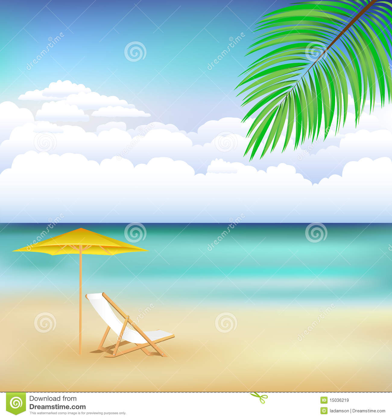 7 Beach Landscape Vector Images