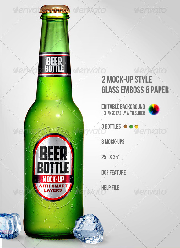 Beer Bottle Photoshop Mock UPS