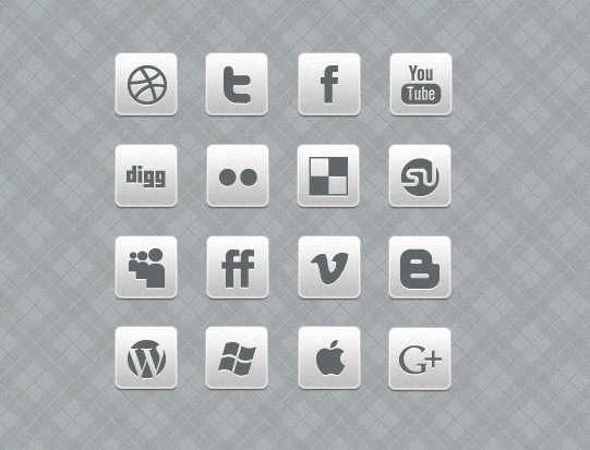 Black and White Social Media Icon Sets