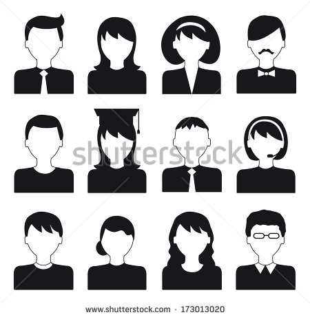 Black and White Vector Icon Flat