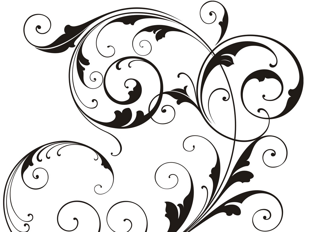 18 Black Vector Swirls Images