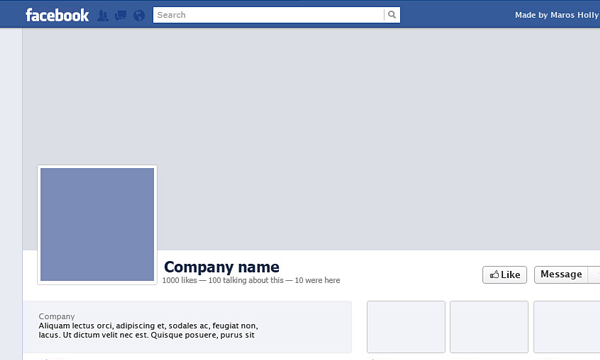 Blank Facebook Profile Timeline Template