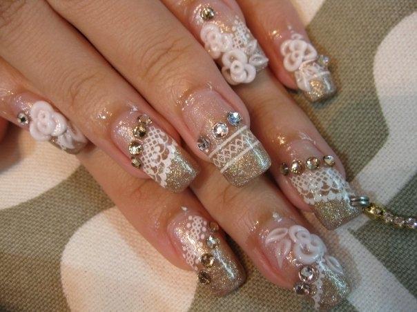 Bridal Nail Designs for Weddings
