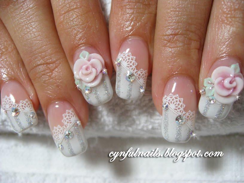 Bridal Wedding Nail Art Design