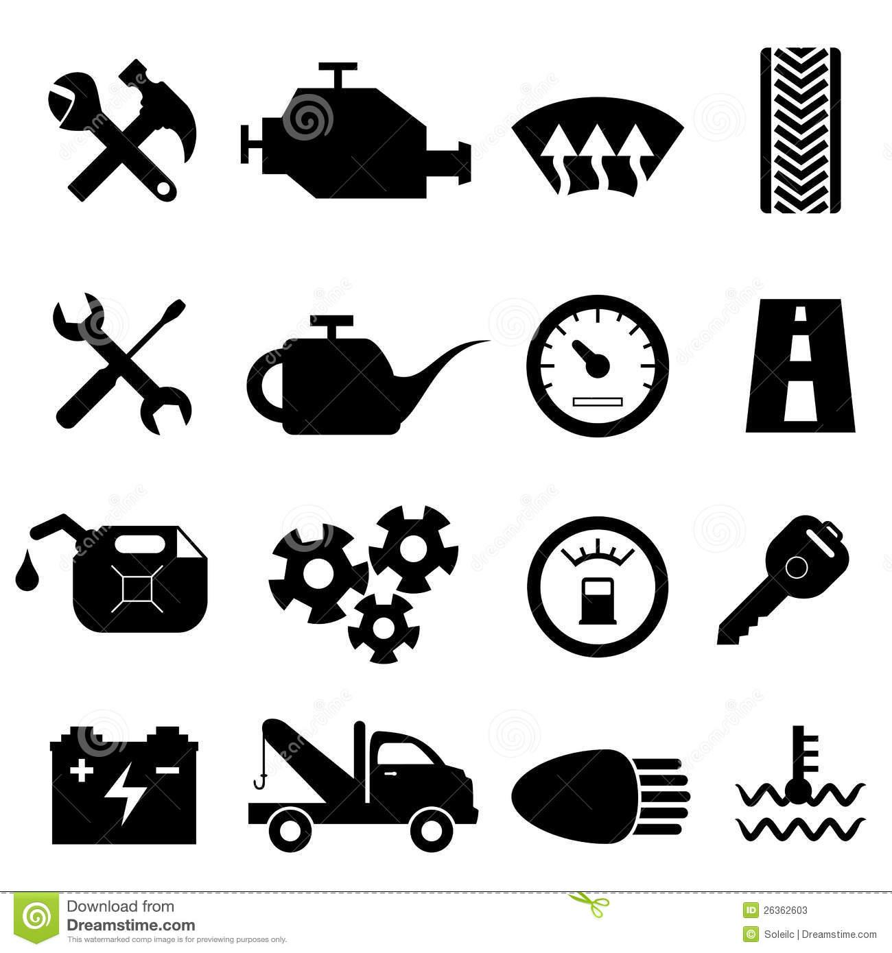 Car Maintenance Icons