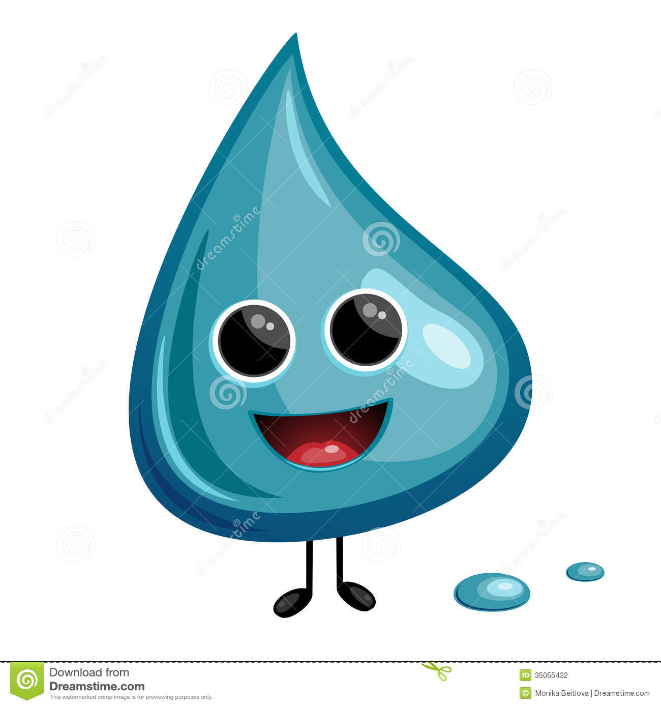 Cartoon Water Drop