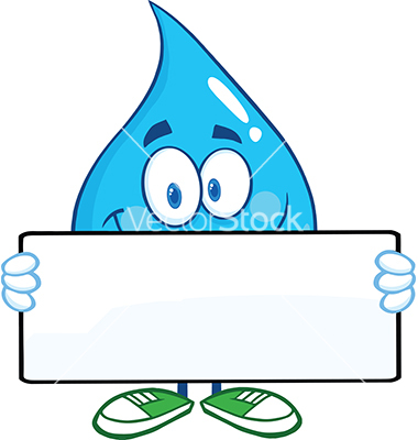 Cartoon Water Droplet Character
