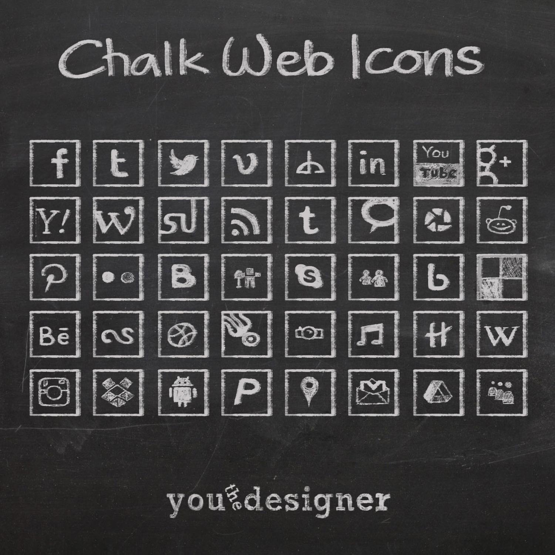 Chalk Social Media Icons Free