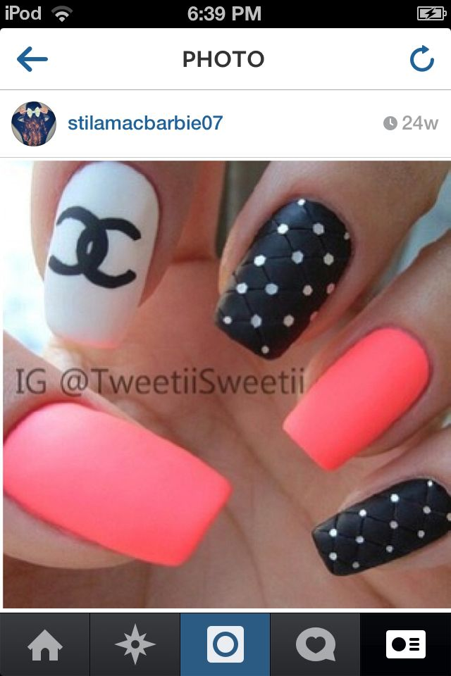 Nail designs chanel images nail art and nail design ideas 14 chanel nail designs images chanel nail art design chanel chanel nail design prinsesfo images prinsesfo Image collections