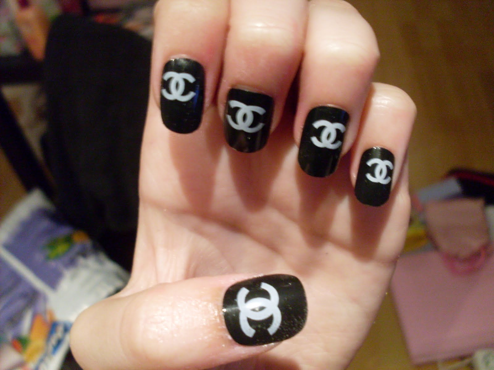 14 Chanel Nail Designs Images Chanel Nail Art Design Chanel Nail