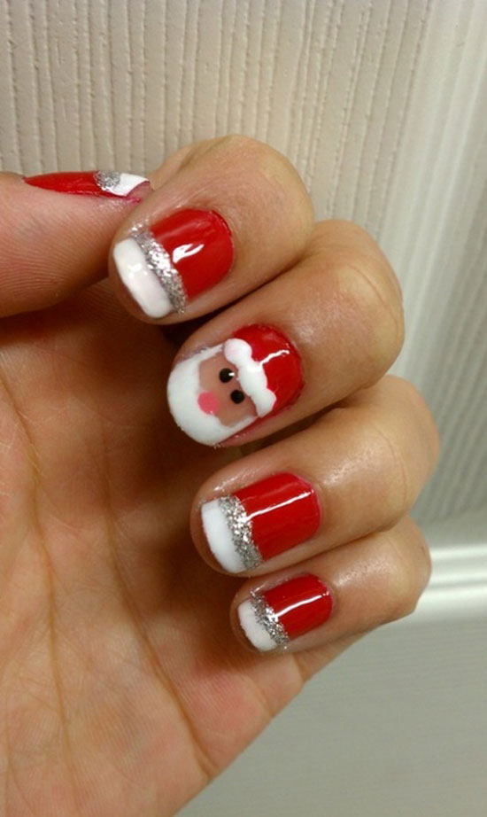 14 Simple Christmas Nail Designs Images