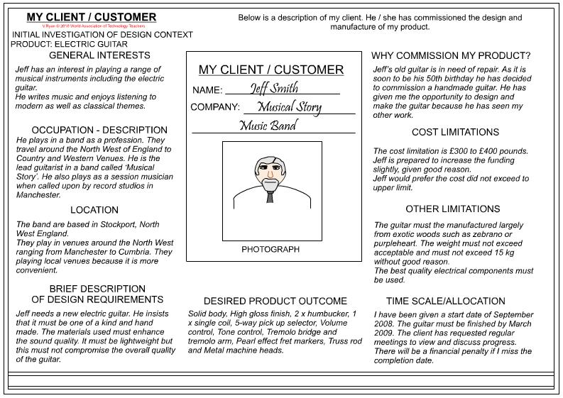Gcse Textiles Coursework Customer Profile