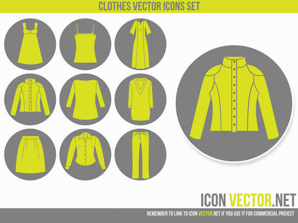 12 Clothes Icon Vector Images