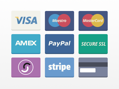 7 Stripe Payment Logo PSD Images