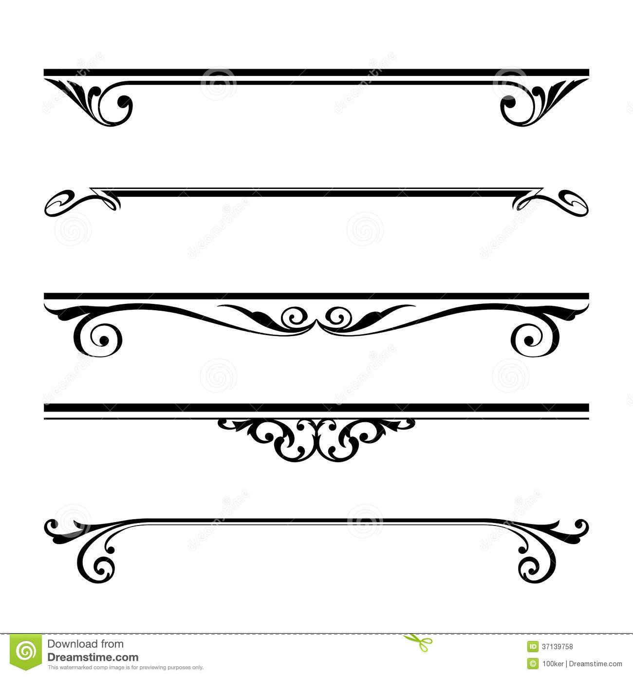 Line Art Border Design : D vector line art border images floral