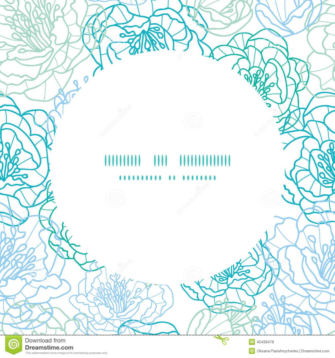 Graphic Line Design Art : D vector line art border images floral