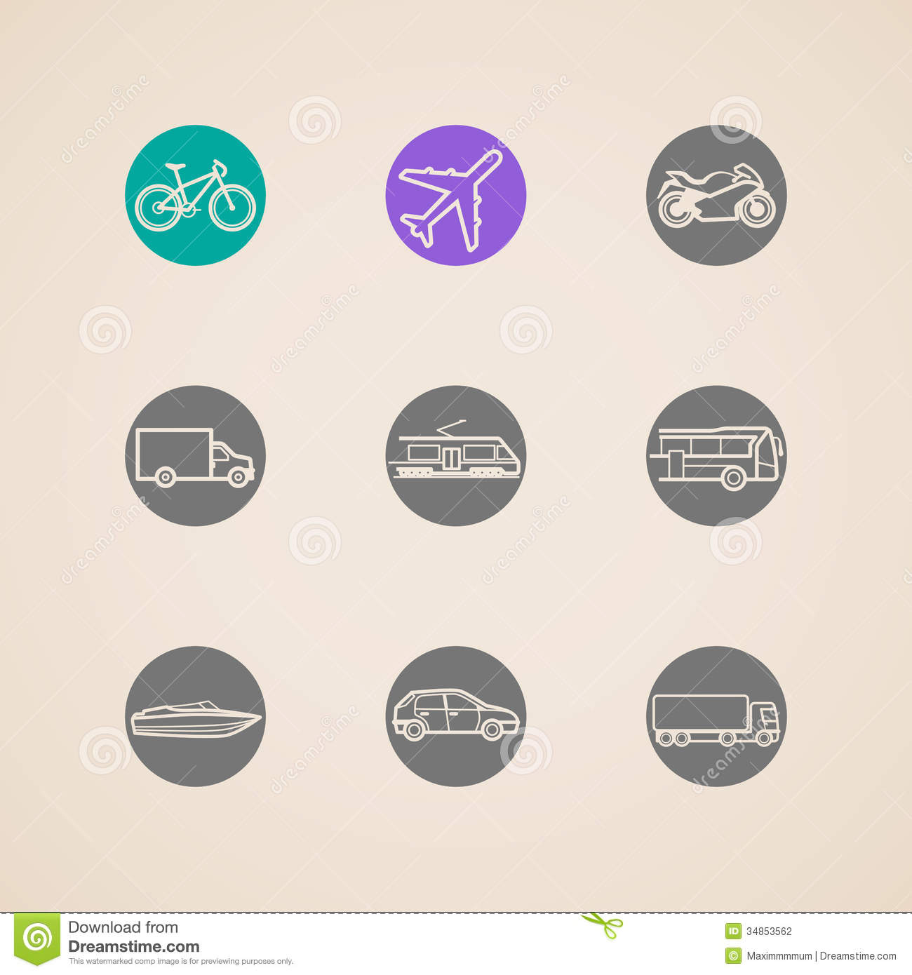 10 Transportation Mode Icon Images