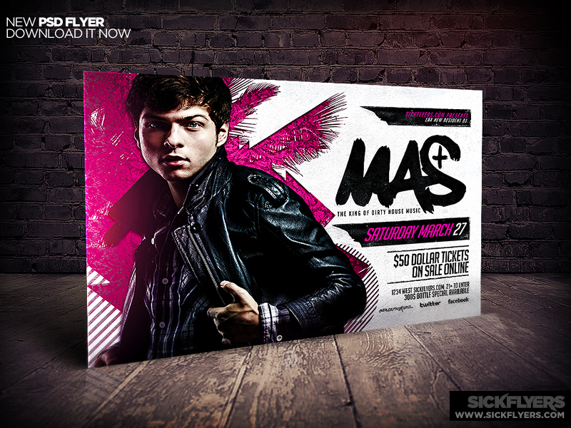 DJ Party Flyer PSD Template