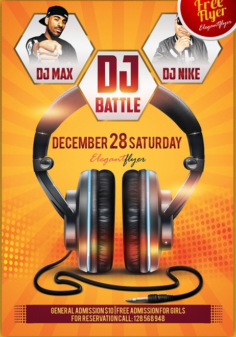 DJ Party Flyer Templates Free