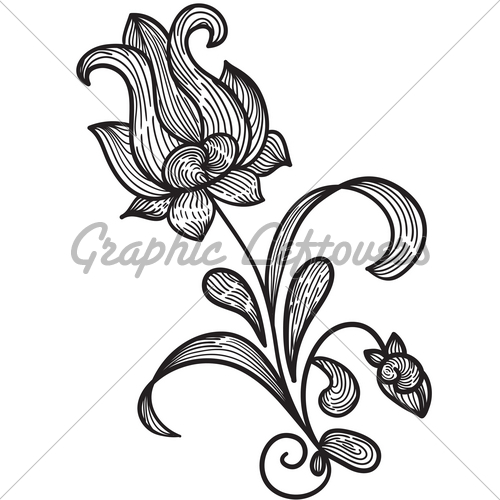 Drawn Flower Designs