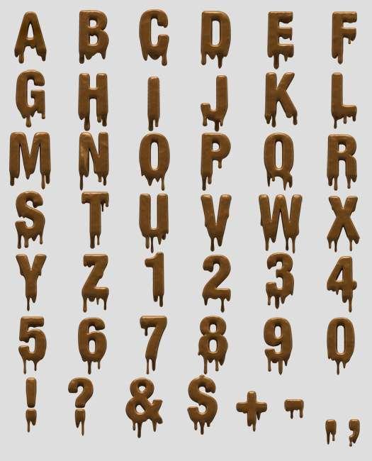 15 Melting Font Alphabet Images