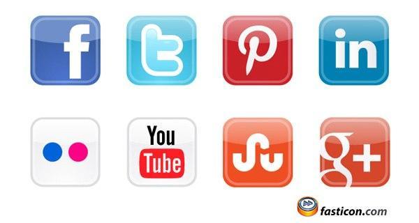 Facebook Social Media Icons Free Vectors