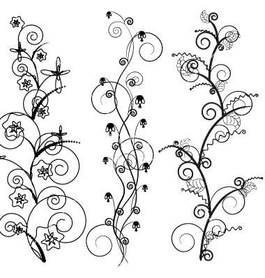 16 2D Vector Line Art Border Images