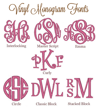 18 Monogram Fonts For Vinyl Cutters Images