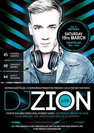 Free DJ Flyer PSD Template