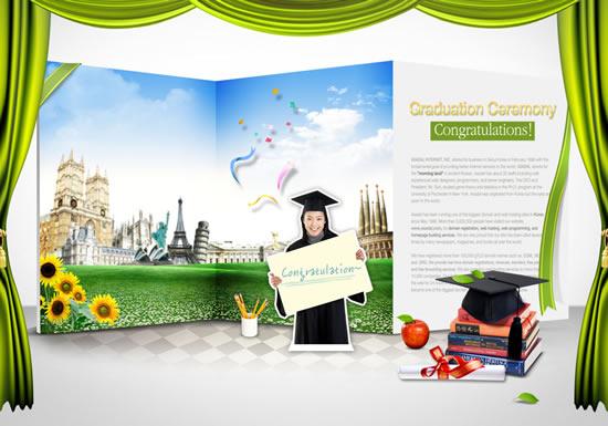 Free Graduation PSD Templates