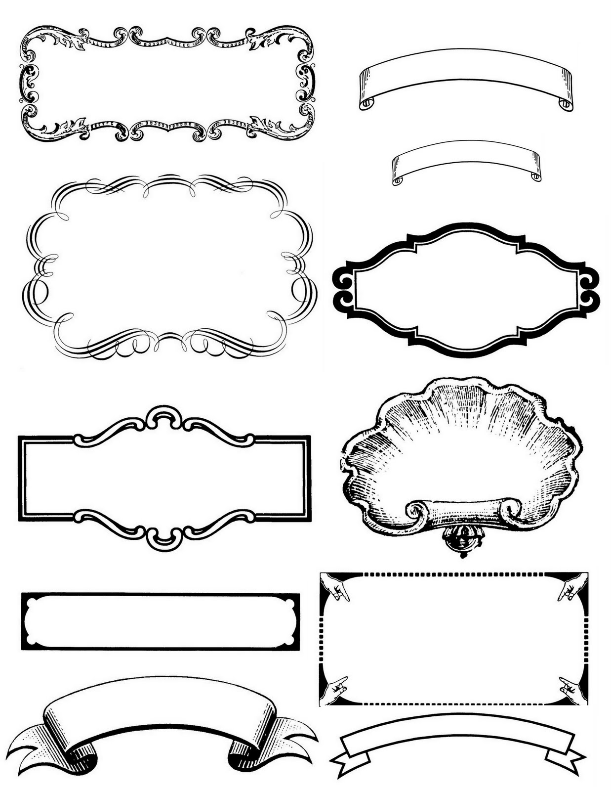 13 free vintage border templates images