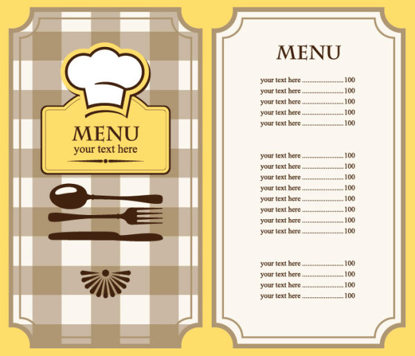 16 Free Cafe Menu Design Templates Images