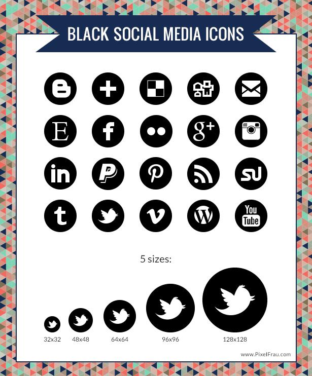 Free Social Media Icons Black