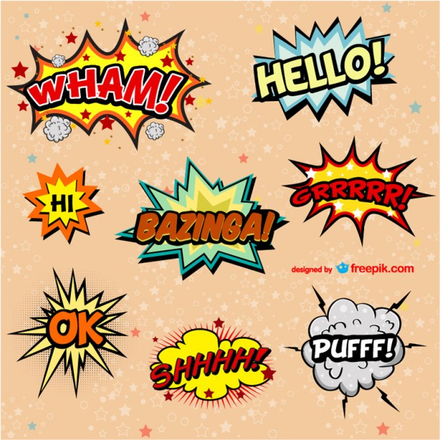 15 Comic Book Vector Images