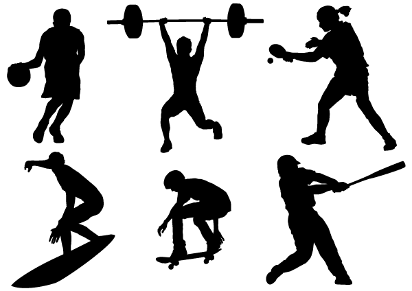 15 Sports Silhouette Vector Images