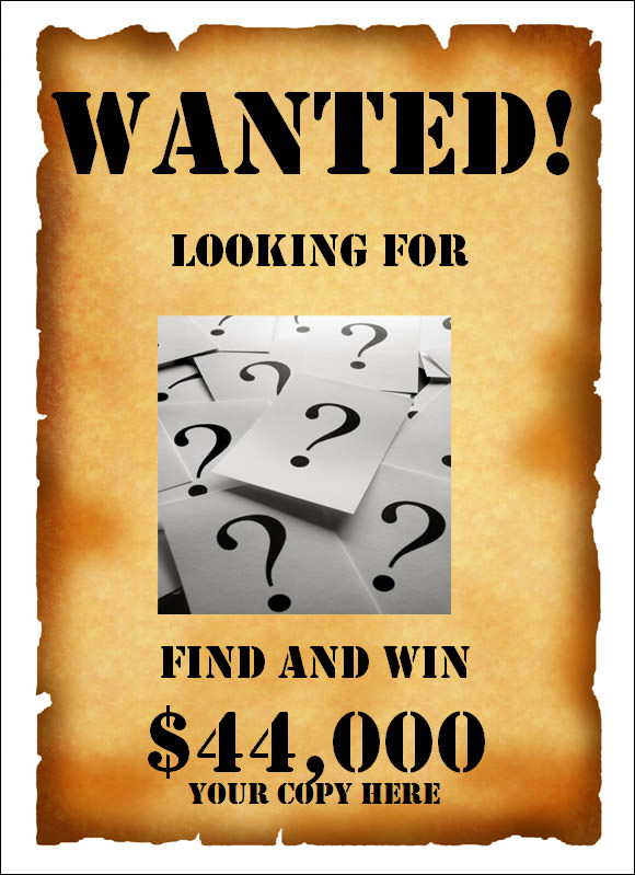 Free Wanted Poster Template for Publisher