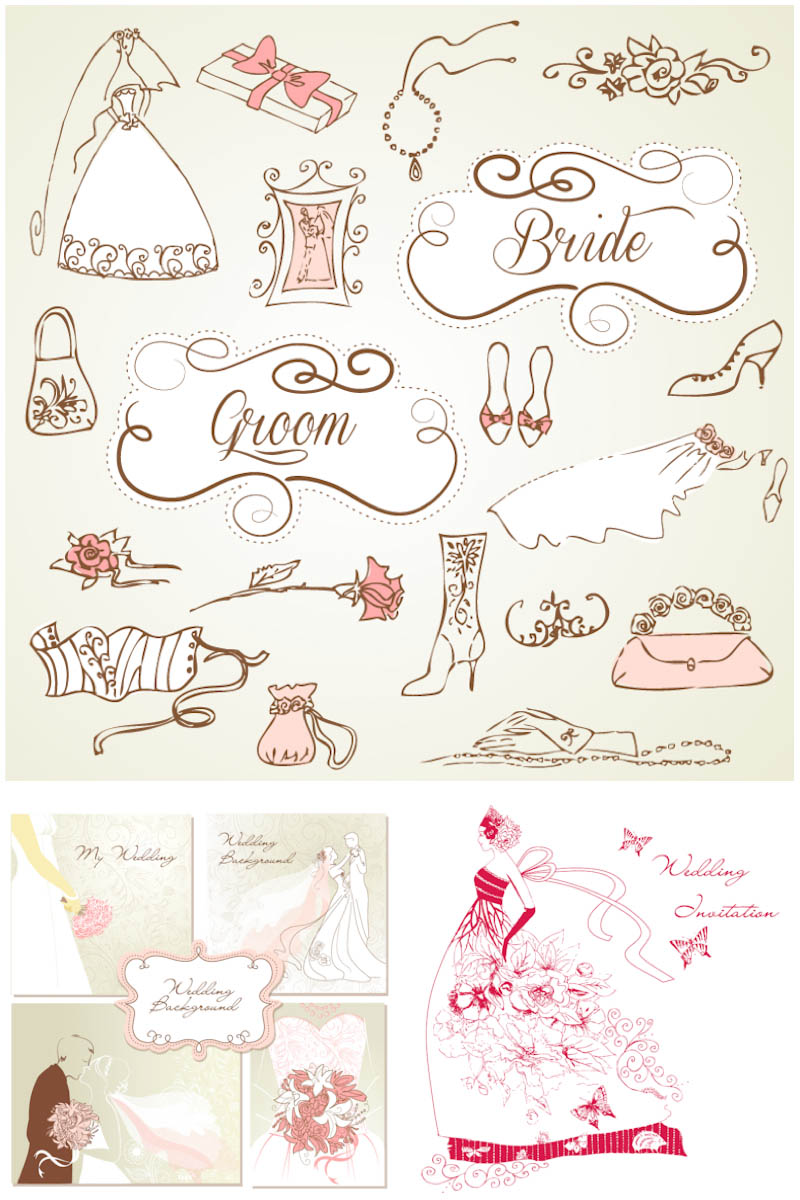 18 Free Wedding Vector Art Images