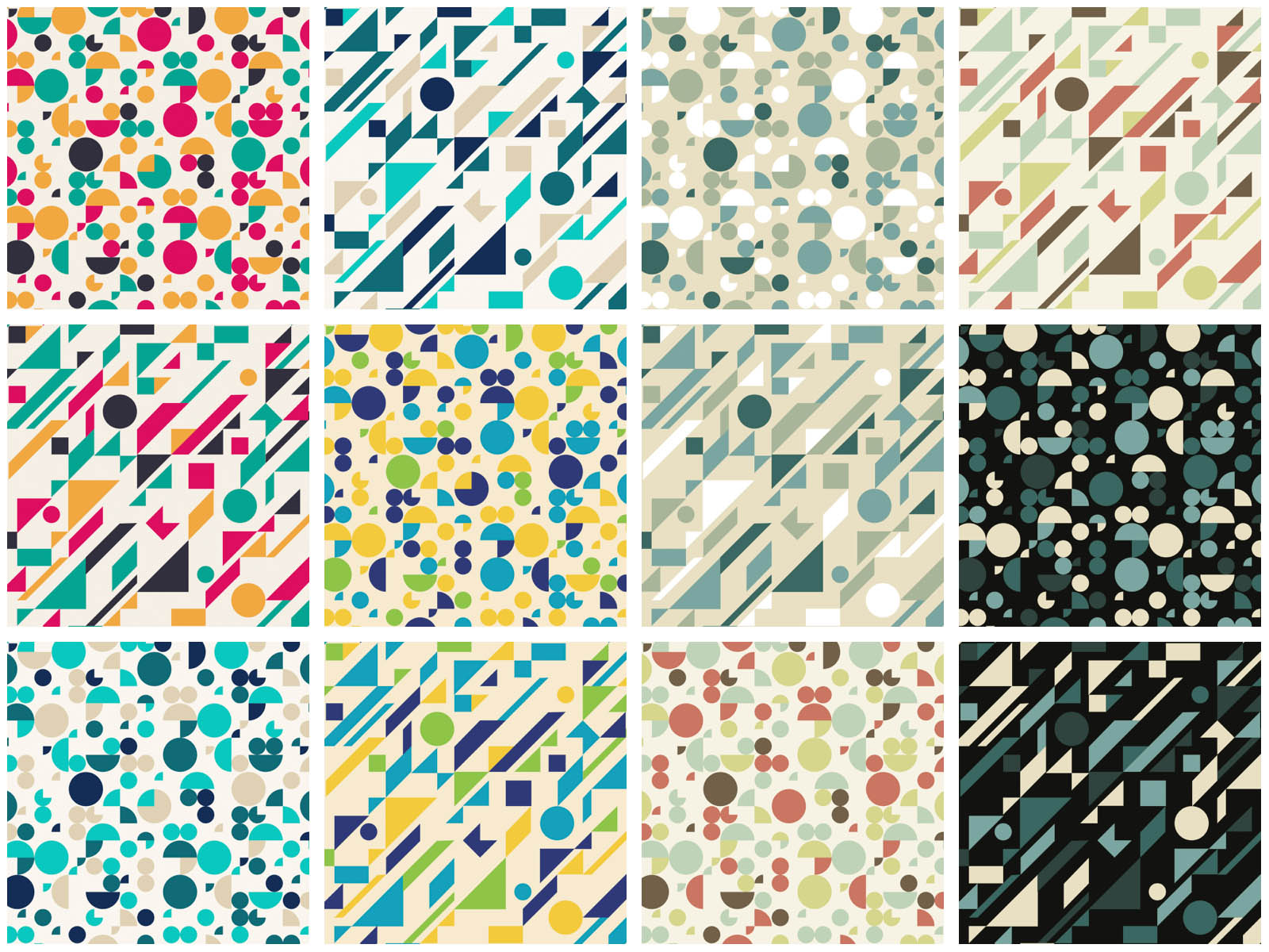 Geometric Design Patterns Vector