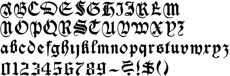 Gothic Old English Font